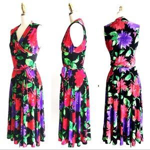 4bcfef84fad5d Ralph Lauren Dresses - Ralph Lauren Black Floral Jersey Sleeveless Dress